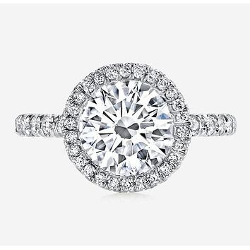 4CT Brilliant Cut Russian Lab Diamond Halo Ring