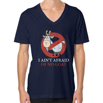 Bill murray cubs shirt - I Ain't Afraid Of No Goat Shirts Tee V-Neck (on man)