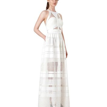 Posh Girl Lulu White Lace Maxi Dress