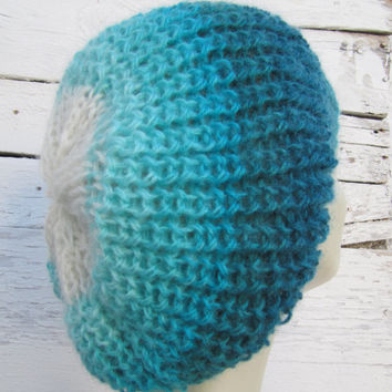 OMBRE beanie.Handknitted beanie / Hat /Fashion Trends 2014-15