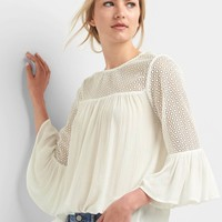 Lace bell sleeve top | Gap