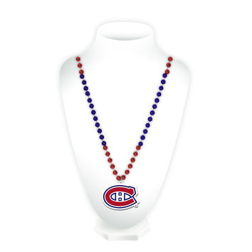 Montreal Canadiens Mardi Gras Beads with Logo