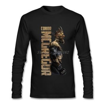T Shirt Men Online Conor Mcgregor Shirts with Hipster Man Trendy Hot Full Sleeve Shirts Clothing Bouyfriend
