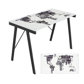 Graphic Top Exponent Desk  World Map