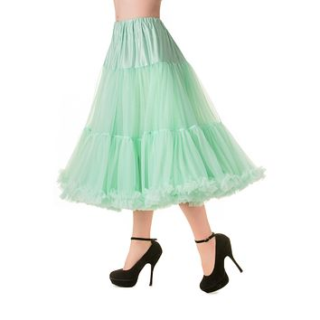 "Banned Fluffy Pastel Color Full Volume Petticoat 27"" Length"