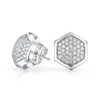 Bling Jewelry Honeycomb Studs
