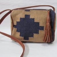 Southwest chic navajo cross body purse
