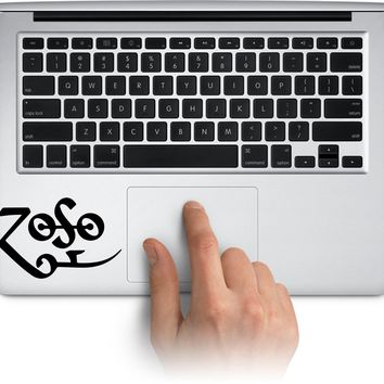 Led Zeppelin Logo Vinyl Decal for Laptop Windows Water Bottle Yeti Tumbler Cup Sticker, Waterproof Car Bumper Stickers Made in US (Message for Color)