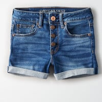 AE Ne(X)t Level High-Waisted Short Short, Horizon Blue
