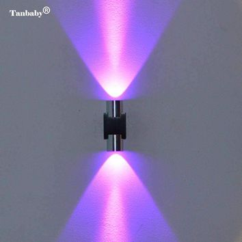 Tanbaby 2W LED Wall Light Modern Wall Sconce Lamp AC85-265V Wall Mounted Aluminum Lighting Fixture for Indoor Home Decoration