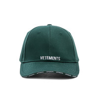 VETEMENTS Logo Cap in Green | FWRD