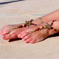 beads Barefoot sandals. wedding sandals. hippie barefoot sandals , barefoot sandles, crochet barefoot sandals, , yoga, anklet