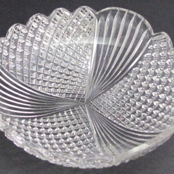 Antique Cut Glass dish from the American Brilliant period, ABP