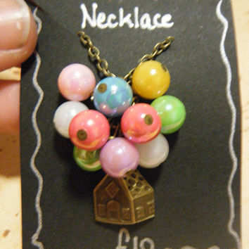 Disney's Up Inspired Balloon House Charm Necklace