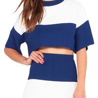 Cropped Two-Tone Top | Lord & Taylor