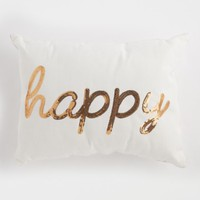 Happy Sequined Throw Pillow | Pillows | rue21
