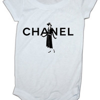 Chanel Lady Inspired baby Onesuit