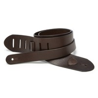The V&T Standard Guitar Strap - Chocolate Brown Leather