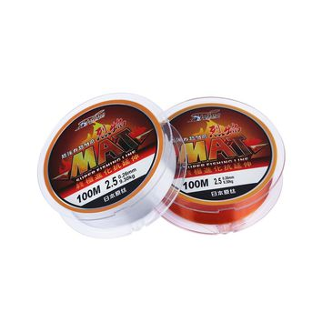100m Super Strong Japanese Monofilament Thread 100% Nylon Transparent Not Fluorocarbon Fishing Line Fishing Accessories