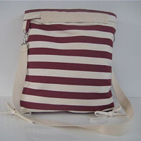 Sailors Drawstring Tote Messenger Pouch Wine by thedragonflypath