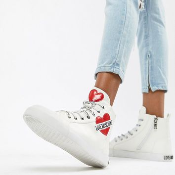 Love Moschino Heart Hi-Tops at asos.com