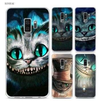 BINYEAE Alice in Wonderland Style Clear Soft TPU Phone Cases For Samsung Galaxy S9 S8 Plus S7 S6 S5 S4 Mini Edge