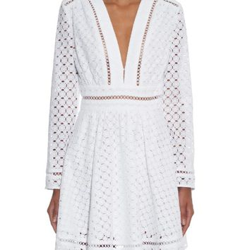 Ryker broderie-anglaise cotton dress | Zimmermann | MATCHESFASHION.COM US