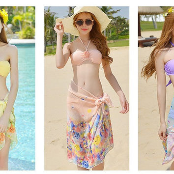 Womens Cute Stylish Rose Swimsuit Bikini
