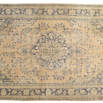 7.5x11.5 Vintage Distressed Oushak Carpet