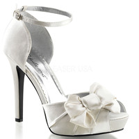 Ivory Pleated Bow d'Orsay Pump