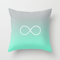 Tiffany Fade Infinity Symbol Throw Pillow by RexLambo | Society6