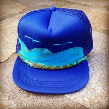 Hawaii Surf Trucker Hat by Roupoli