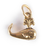 Whale Charm Gold or Silver