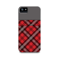 Red Scottish Plaid (Tartan) iPhone 5 Case, iPhone 4, iPhone 4S, Samsung Galaxy S4, iPhone5 Case, iPhone Cover, Trendy Fashion Phone Case
