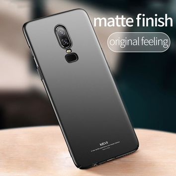 Msvii Luxury Fitted Case for Oneplus 6 5T Case for One plus 6 5 5T Case for Oneplus6 Ultra Thin Slim Cover Anti-knock Protection