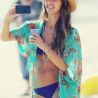 Shop Celeb Look . Vogue Style . Beach Kaftan . Beach Kimono . Boho Style Light Weight Beach Cover Up Bikini Wrap Bathing Suit