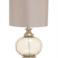 Benzara Wonderful Styled Glass Metal Table Lamp