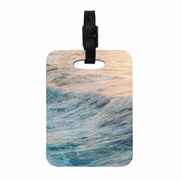 "Chelsea Victoria ""Sherbert Ocean"" Orange Nature Decorative Luggage Tag"