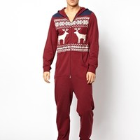 ASOS Onesuit with Stag Print