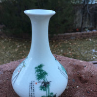 Chinese Porcelain Flower Vase The Flowers of the Four Seasons
