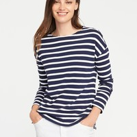 Relaxed Boat-Neck Tee for Women | Old Navy