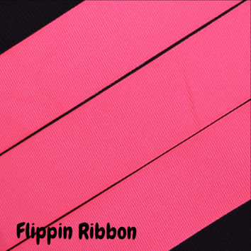 Neon Pink Ribbon, 4 yards, 1 1/2 inch Grosgrain