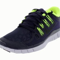 Womens Nike Free 5.0+ Shield Running Shoe Purple Dynasty/Volt/Violet Frost/Black Size 10