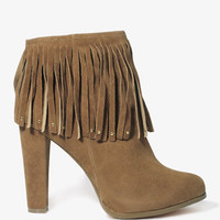 Studded Fringe Booties