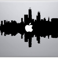 Chicago Skyline City Sticker for Apple Macbook Air 11 12 13 Pro 13 15 17 Retina Vinyl Decal Car Laptop Multi Skins