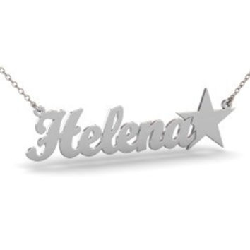 Sterling Silver Star Name Necklace