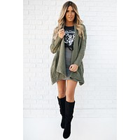Thank Me Later Cardigan (Olive)