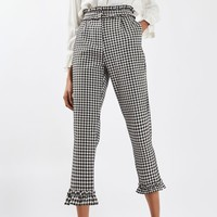 Gingham Frill Trousers