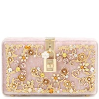 Dolce embellished velvet box clutch