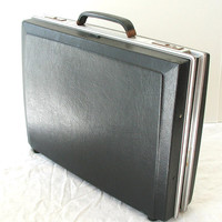 Stebco Black Brifecase - Vintage Attache Case